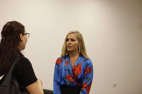 1_Συνάντηση μεταξύ της Λειτουργού ΣΠΑΒΟ, κας. Άντρης Αγαθοκλέους με την κα Emma Murphy, ομιλήτριας στο TEDx University of Nicosia